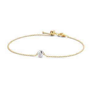 Armband 2167BZI – Geel en Wit Goud (14Krt.) met Zirconia