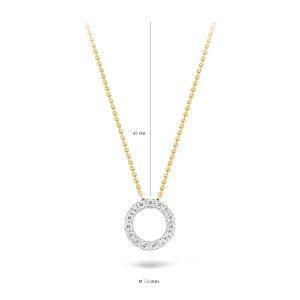 Collier 3065BZI – Geel en Wit goud (14krt.) met Zirconia