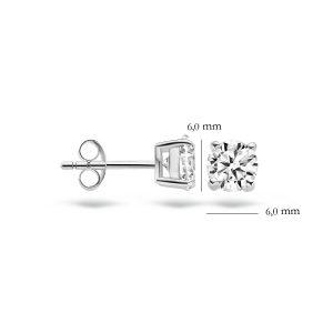 Oorknoppen 7014WZI – Wit Goud (14Krt.) met Zirconia