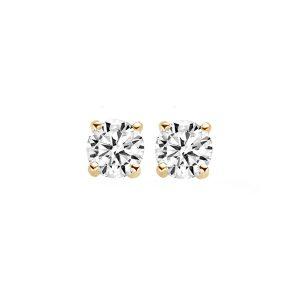 Oorknoppen 7014YZI – Geel Goud (14Krt.) met Zirconia