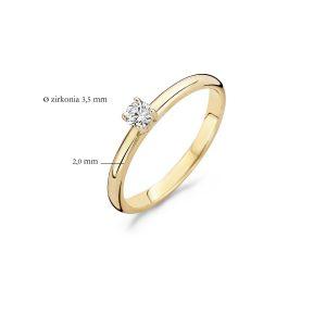 Ring 1112YZI – Geel Goud (14Krt.) met Zirconia
