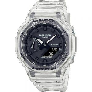 G-Shock Classic Style GA-2100SKE-7AER Skeleton Series – White horloge
