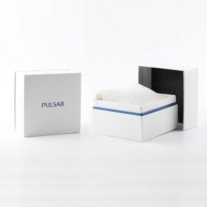 Pulsar PT3A78X1 horloge Goudkleurig roestvrijstalen chronograaf met datum